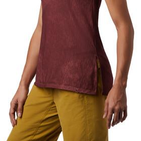 Mountain Hardwear Everyday Perfect Camiseta sin mangas fit Mujer, rojo